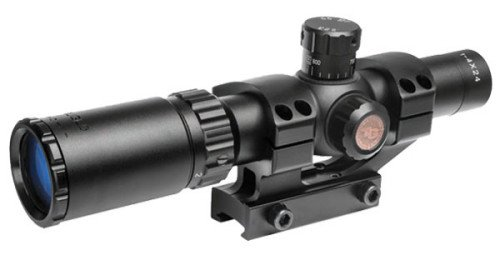 The TRUGLO Tru-Brite 1-4x24mm tactical rifle scope.
