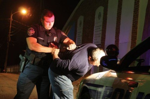 Controlling suspects is critical to officer survival (photo from Pintrest).