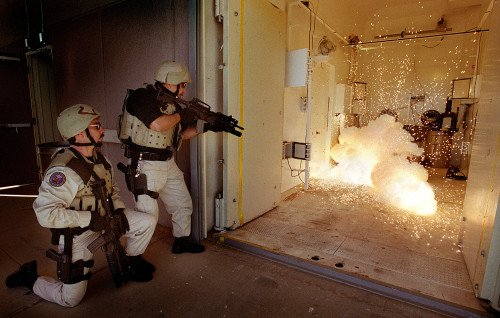 FSDD (flash bangs) can seriously injure or kill. Their use should be by specially trained personnel only (photo by sandia.gov).