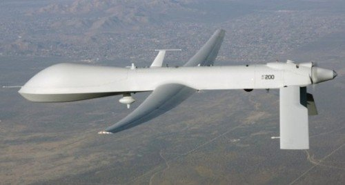 Perhaps the most famous military drone is the Predator, which can launch missiles and bombs in attacks (photo by military.com).