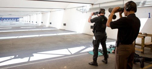 U.S. Secret Service Agents training on the USSS range (photo by Secret Service).