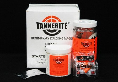 "The Tannerite ""6-Pack Starter"" package provides six (1) pound explosive containers for only $34.99."
