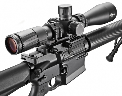 The Vudu 3.5-18x scope can mount to an AR-15, though this would not be the preferred police sniper rifle.