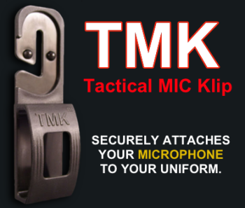 The Tactical Mic Klip is a simple design, but could be a life saver on the streets.