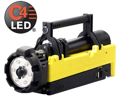 C4 LED lights power the Portable Scene Light with immensely bright beams.