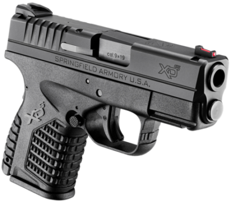 The Springfield XD-S with the flush 7-round magazine.