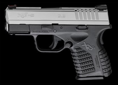 The Springfield XD-S 9mm also offers a 2-tone option with a stainless steel slide.