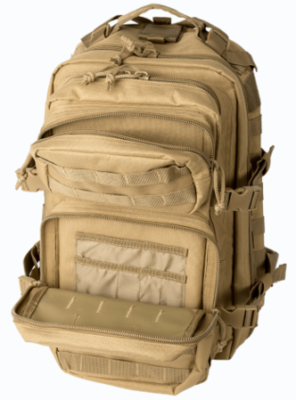 Two outer compartments complete the exterior load capacity of the Bravo Series packs.
