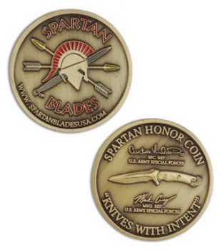 "Spartan Blades provides ""Honor Coins"" with some blades."