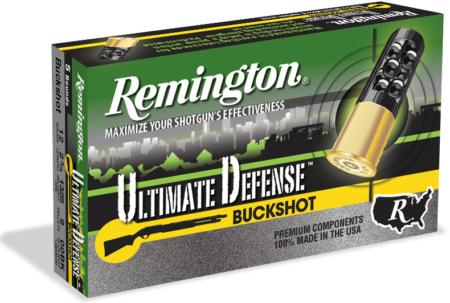 The new Remington Ultimate Defense buckshot.