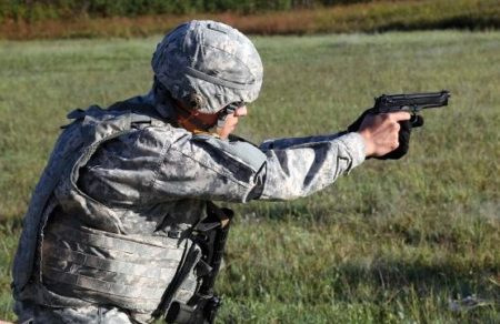 The Beretta M9 has overall served well, but its age is showing (photo by US Army).