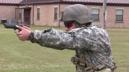 The Army has used variations of the Beretta M9 for 30 years (photo by U.S. Army Marksmanship Unit).
