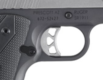 The skeletonized trigger reduces weight, and is designed for light pull and quick reset.