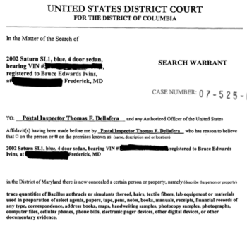 Without consent, a search warrant is required for blood draws (photo by doj.gov).