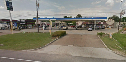 The B-Quik convenience store and car wash where the Baton Rouge ambush killings took place. This is only one mile from Police HQ.