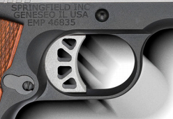 The machined EMP trigger has a 5-6 lb. pulle weight.
