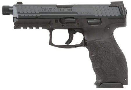 The HK VP9 Tactical has a longer and slightly heavier threaded barrel ready for silencer attachment.