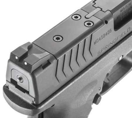 The XDM with Cover Plate attached for iron sights.