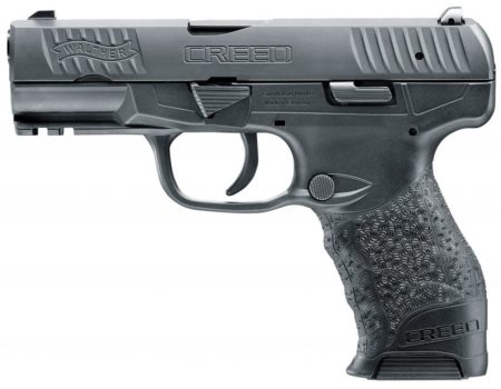 The new 9mm Walther Creed uses a pre-set double action trigger,