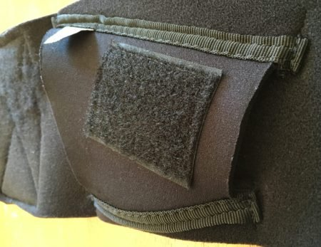 The Tagalong holster is slightly thinner than the Neoprene backing.