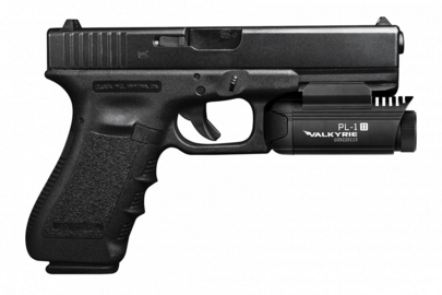 The Valkyrie PL-1 II fits nicely on Glock pistols.