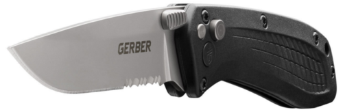 The US-Assist partially serrated edge blade option.