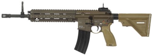 The HK 416 uses international Fire/Safe symbols.