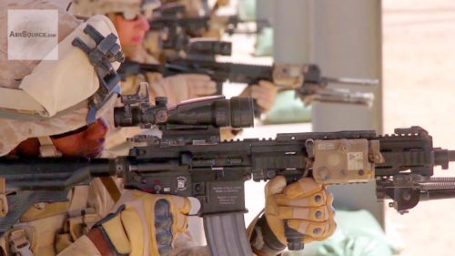 The M27 IAR (HK 416) appears to be here to stay with the Marines (photo from YouTube).