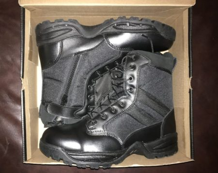 Maelstrom TAC FORCE boots came with a glossy shine.