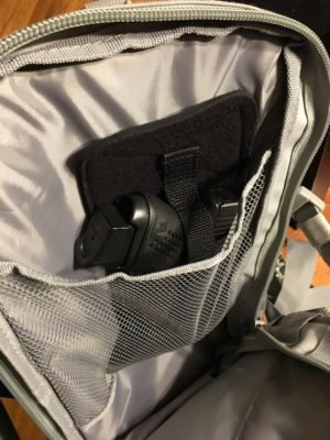 Even without Velcro attachment, the Tagalong fit nicely in the interior pocket.