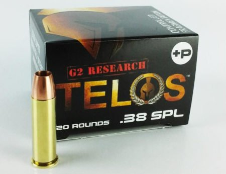 The new G2 Research Telos comes in 9mm and .38 Spl. +P ammunition.