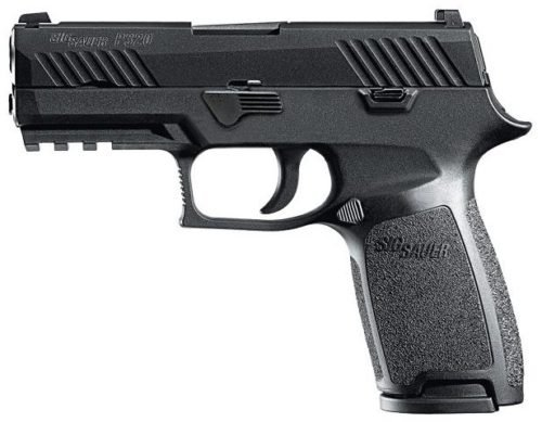 A standard Sig Sauer P320 Carry model.