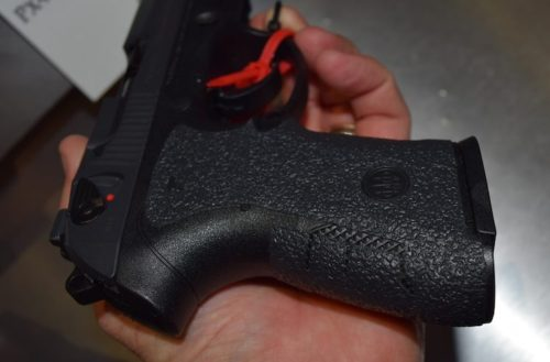The Talon grips go all the way around the PX4 Storm Compact Carry grip.