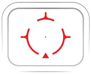 A closer look at the Razor AMG UH-1 reticle.