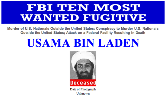 Bin Laden Most Wnated