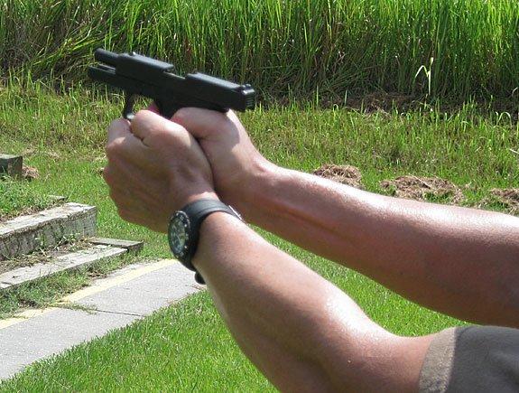 Diamondback DB9 under recoil during testing