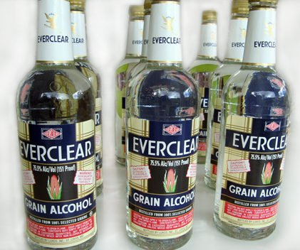 """Ah the Everclear … """"Stay away from the purple drink!"""" Grain alcohol is about as close to pure alcohol as you'll get, and it still has a distinct odor."""