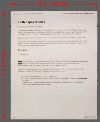 """Standard paper is 8.5"""" x 11"""" and provides a good practice guide for establishing HGN distances."""