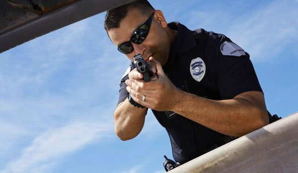 Police Pointing gun