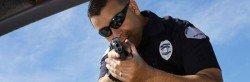 Police Pointing gun thin