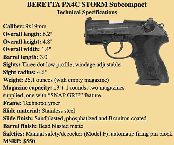 Comparing the Beretta PX4C Storm and Nano Subcompact Pistols