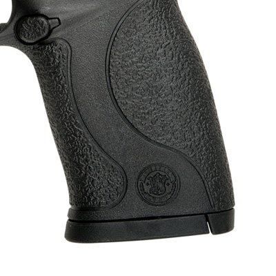The M&P 22 Compact has the standard M&P 18-degree ergonomic grip.