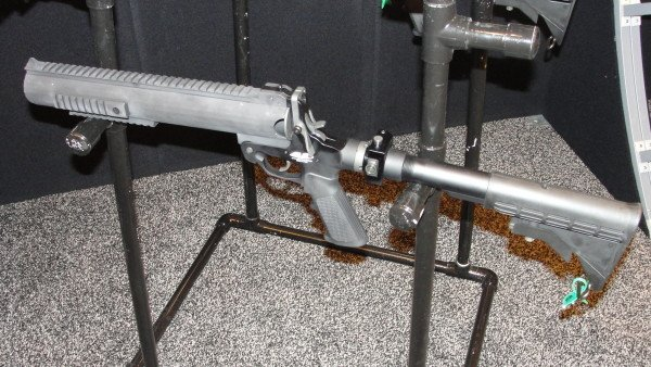 The AMTEC single shot 37 or 40mm launcher (made to fit only one available size).