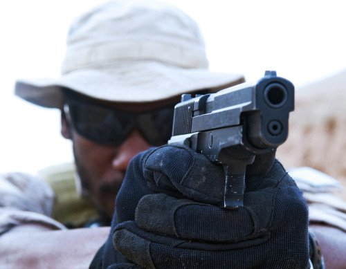 This shooter is definitely lining up the sights. Photo courtesy of SEAL-SWCC.com