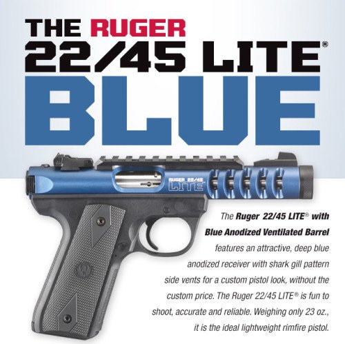 The Ruger 22/45 Lite Blue could be a perfect cop gift.
