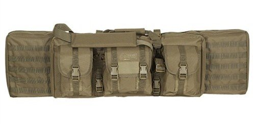 The VooDoo Tactical double rifle bag in Coyote Brown.
