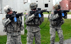 U.S. Military training with UTM munitions.