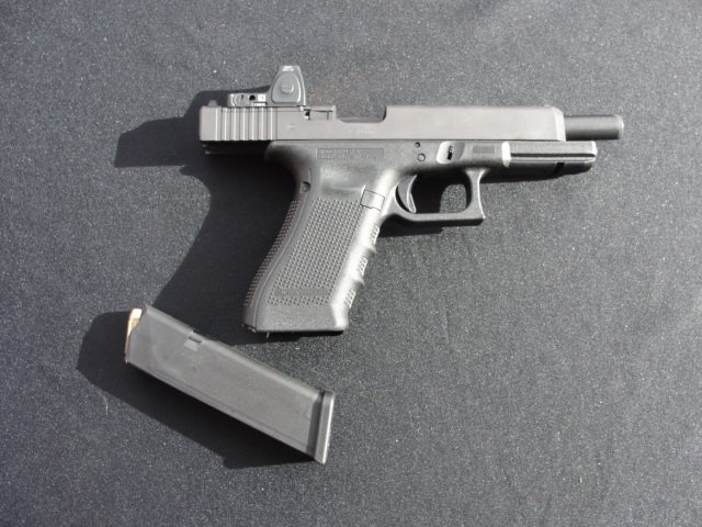 The other side of the Glock MOS pistol.