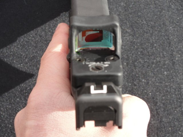 Finding the red dot sight was quick and natural when a proper grip was maintained.