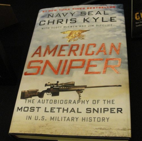 Chris Kyle's GA Precision Gladius on the cover of American Sniper.
